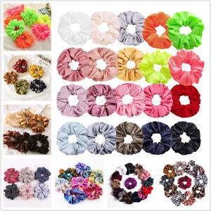 Women-Silky-Satin-Hair-Scrunchies-Elastic-Hair-Bands-Ponytail-Hair-Tie-Ring-Rope