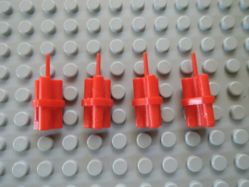 Lego 4 x Dynamit Stangen 64728 rot