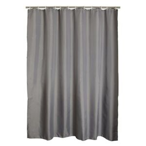 Gray-Polyester-Bathroom-Waterproof-Shower-Curtains-with-Plastic-Hooks