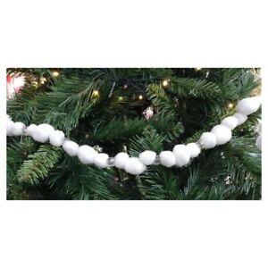 Addobbi Natalizi Ebay.Ghirlanda Con Palline Da Decorazioni Per Albero Natale Addobbi Natalizi Bianco Ebay