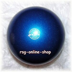 RSG-Ball-JUNIOR-BALL-Gymnastikball-BLAU-metallic-150-170mm-300g-NEU