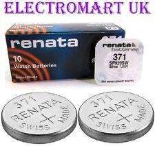 2 X RENATA 371 SR920SW SILVER OXIDE SWISS MADE WATCH BATTERIES 1.55V