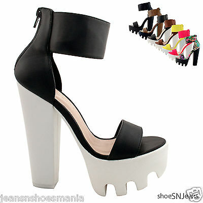 New Women Fashion Fringe Tassel Ankle Booties Chunky Heel Platform Sandal Shoes