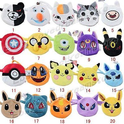 Pokemon/Sailor Moon Luna/Captain America/Adventure Time Coin Purse Wallet Bag