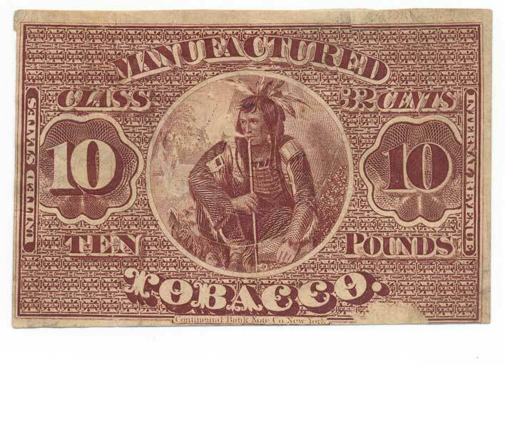 TF10 Manufactured 32c Tobacco Stamp, Series of 1868, 10