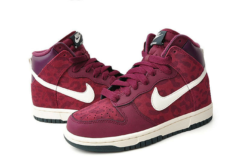 New Nike Women's Dunk High AS Shoes (342257-613)  Bordeaux/Sail/Seaweed