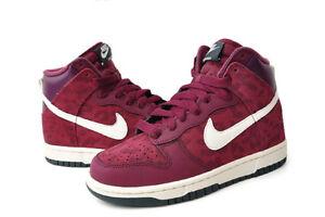 New Nike Women s Dunk High AS Shoes (342257-613) Bordeaux Sail ... eae77adf0b