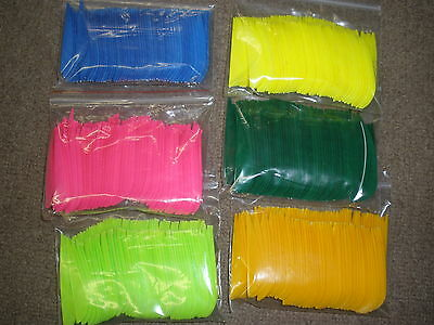 """for arrows Archery Feathers 3/"""" Left Wing  Parabolic 50pk Color choices AF3L"""