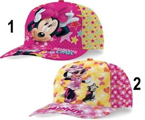 Disney-Minnie-Mouse-Basecap-Kappe-Caps-Cap-Satin-Kinder-Groesse-53cm-NEU