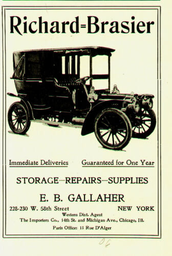 1906 RICHARDBRASIER LIMO ORIGINAL AUTO AD