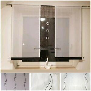 Gardinen Set Modern Flachen Schieben Vorhang Panel Bistrogardine