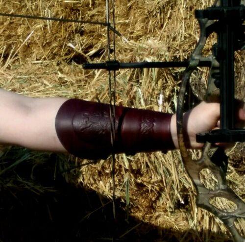 EPONA HORSES// Celtic Knot work design Archery Bracer// Arm Guard Handmade USA