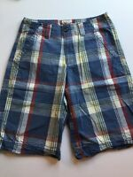 Men Mossimo Supply Co Plaid Casual Shorts W28