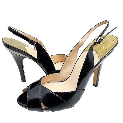 4009c9757697 Cole Haan Womens Aurora Air Sling Back Slip On Peep Toe Buckle Strap Heels  Shoes