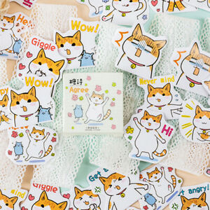 45pcs-box-Fat-Cats-Life-DIY-Diary-Stickers-Paper-Labels-Gift-Packaging-Decor-KT