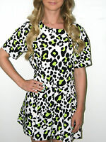 JOHN ZACK LEOPARD PLAYSUIT SIZE 8 10 12 14 BNWT 4 COLOURS ASOS PINK LIME GREEN