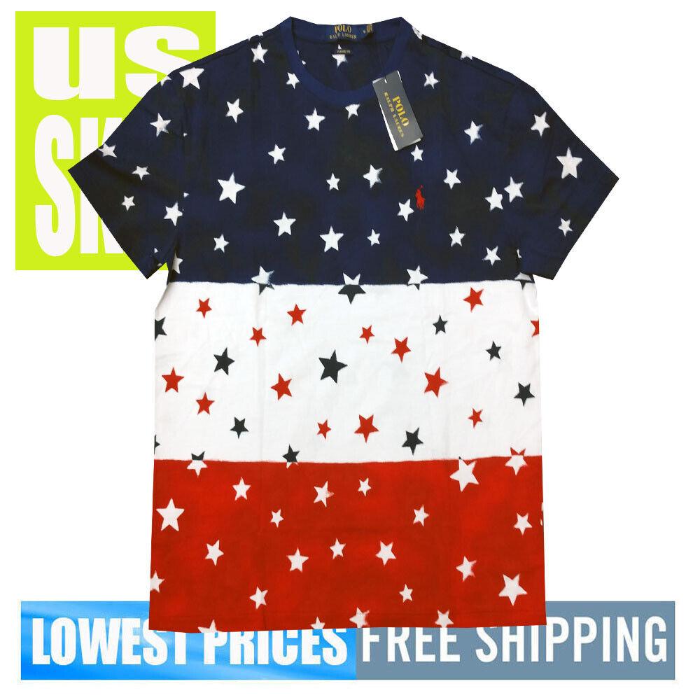 Polo Ralph Lauren Men's NWT 100% Cotton USA STARS RWB T-Shirt LARGE MSRP
