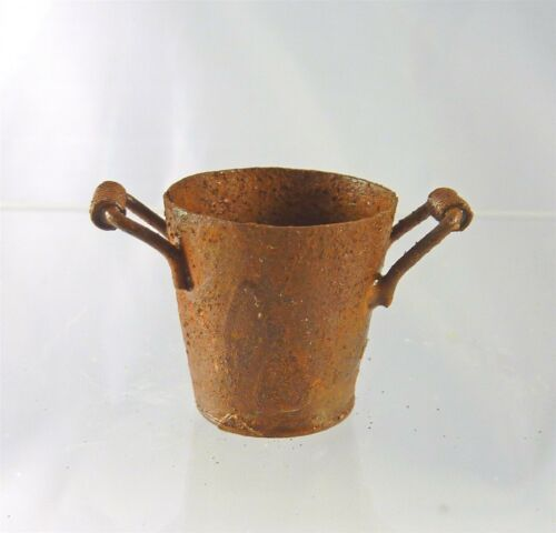 Dollhouse Miniature Rusty Flower Bucket EIWF580
