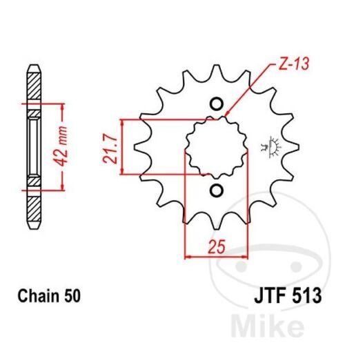 JT Front Sprocket 16T 530 Pitch JTF513.16 Suzuki VZ 800 Marauder 1997