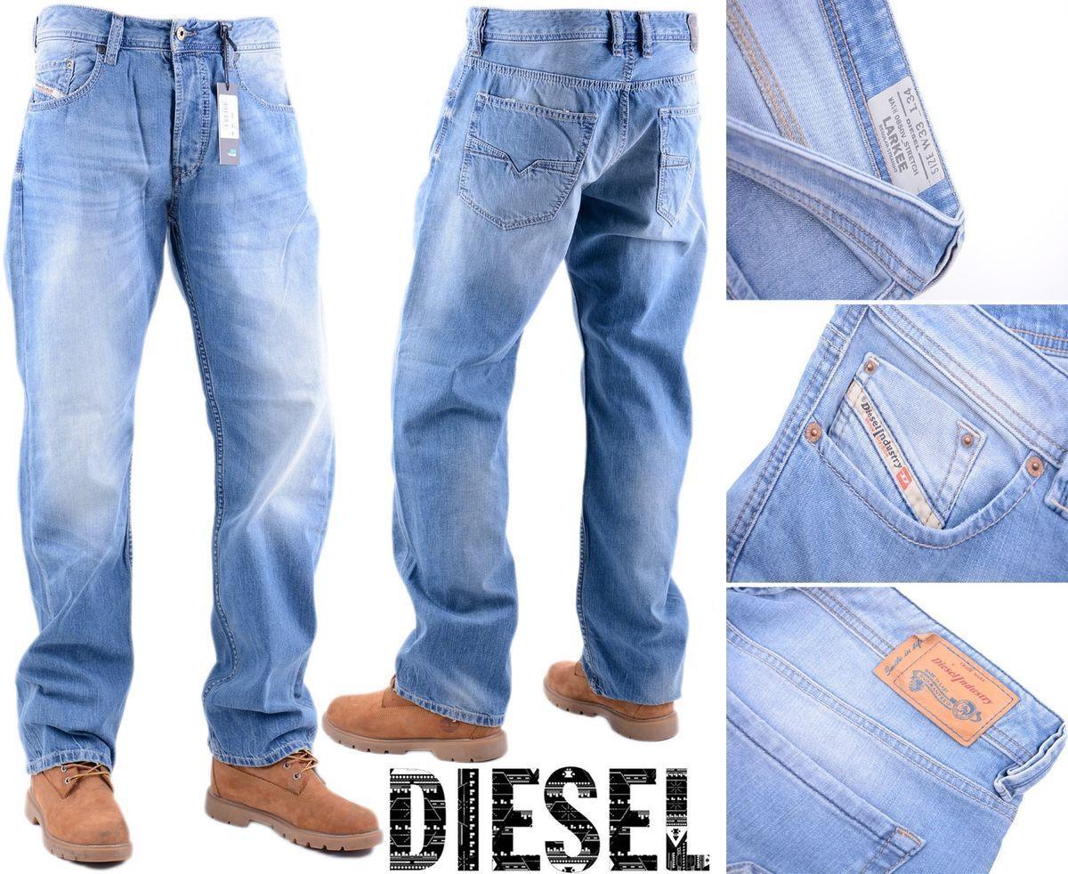DIESEL LARKEE 0850V W33 L34 Mens Denim Jeans Stretch Regular Fit Straight    Zu einem niedrigeren Preis    Neuheit    Exquisite (mittlere) Verarbeitung