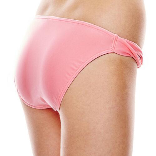 L Msrp $28.00 Pink Lemonade Arizona Side-Loop Hipster Swim Bottoms Size S