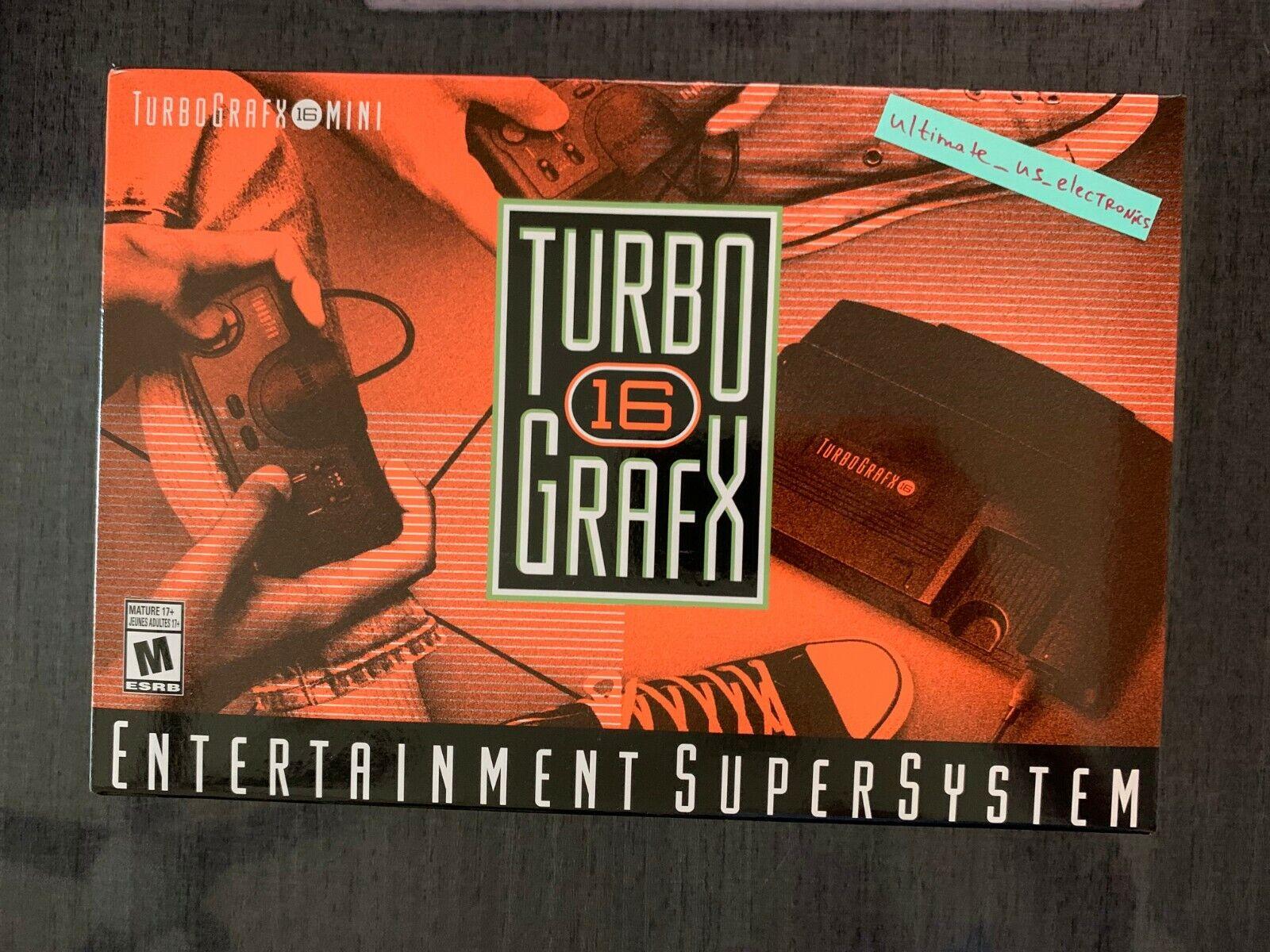 Turbografx 16 Mini Game Console 2020 PC Engine TG16 HDMI Brand New Free Shipping