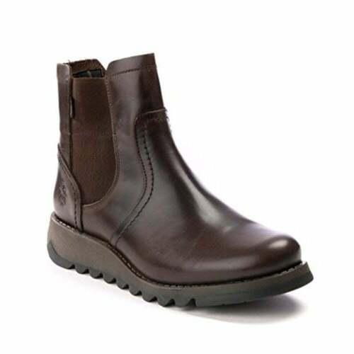 P144058000 bottes boots talons compenses E4 Fly London SCON 058fly Tapis Noir