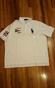 Polo Regatta Ralph Pony Nautical About Shirt Sz New Mens Fit Details Custom 4xb Lauren Big DWIEH29Y