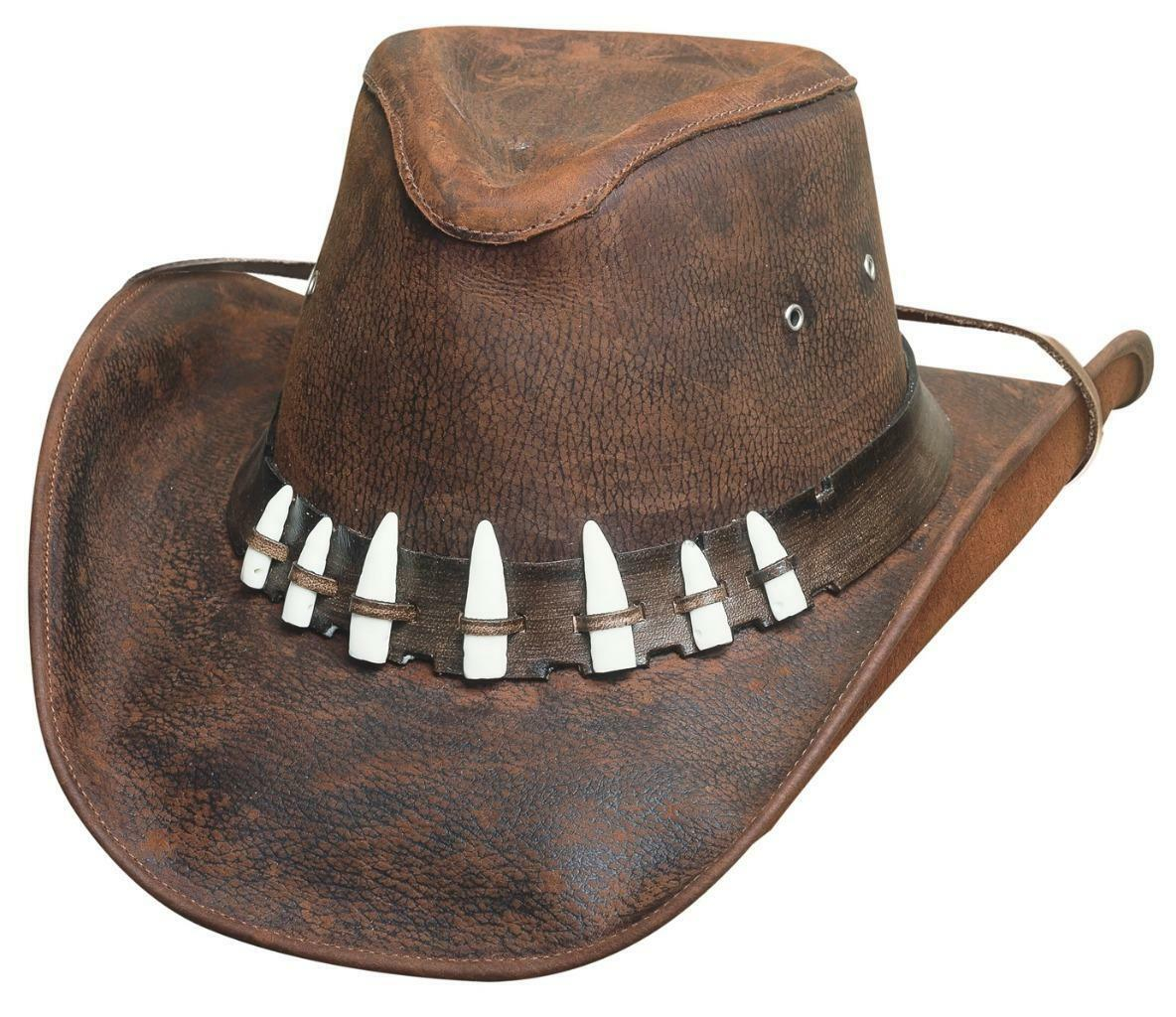 NEW Montecarlo Western Bullhide SPIFFY Top Grain LEATHER Western Montecarlo Cowboy Hat Chocolate 489030