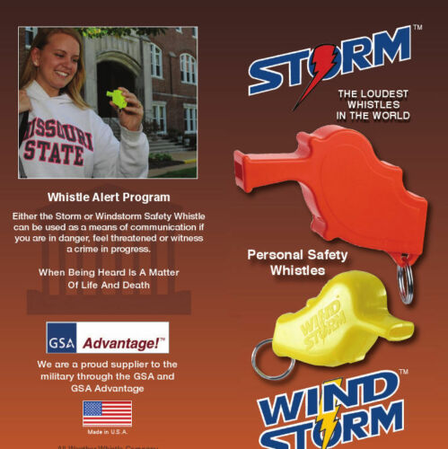 Storm Whistle Orange 36 pack  Loudest Whistle in World totally waterproof
