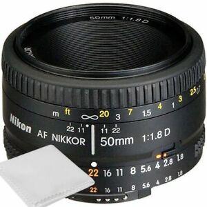 Nikon 50mm f/1.8D AF Nikkor Lens for Nikon Digital SLR Cameras - Brand New