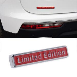 Limited-Edition-Rot-Emblem-Metall-Auto-Aufkleber-Badge-Tuning-Sticker-Schriftzug