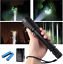2PC Rechargeable 990000LM T6 LED 5-Zoom Flashlight Torch+4*18650+2* Dual Charger