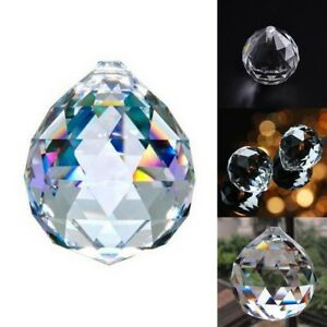 2Pcs-Clear-Feng-Shui-Hanging-Crystal-Ball-20mm-Sphere-Prism-Faceted-Sun-Catcher