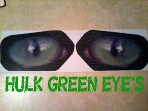 Polaris  RZR 800 900  HULK GREEN Eyes HeadLight Covers head light RUKINDCOVERS