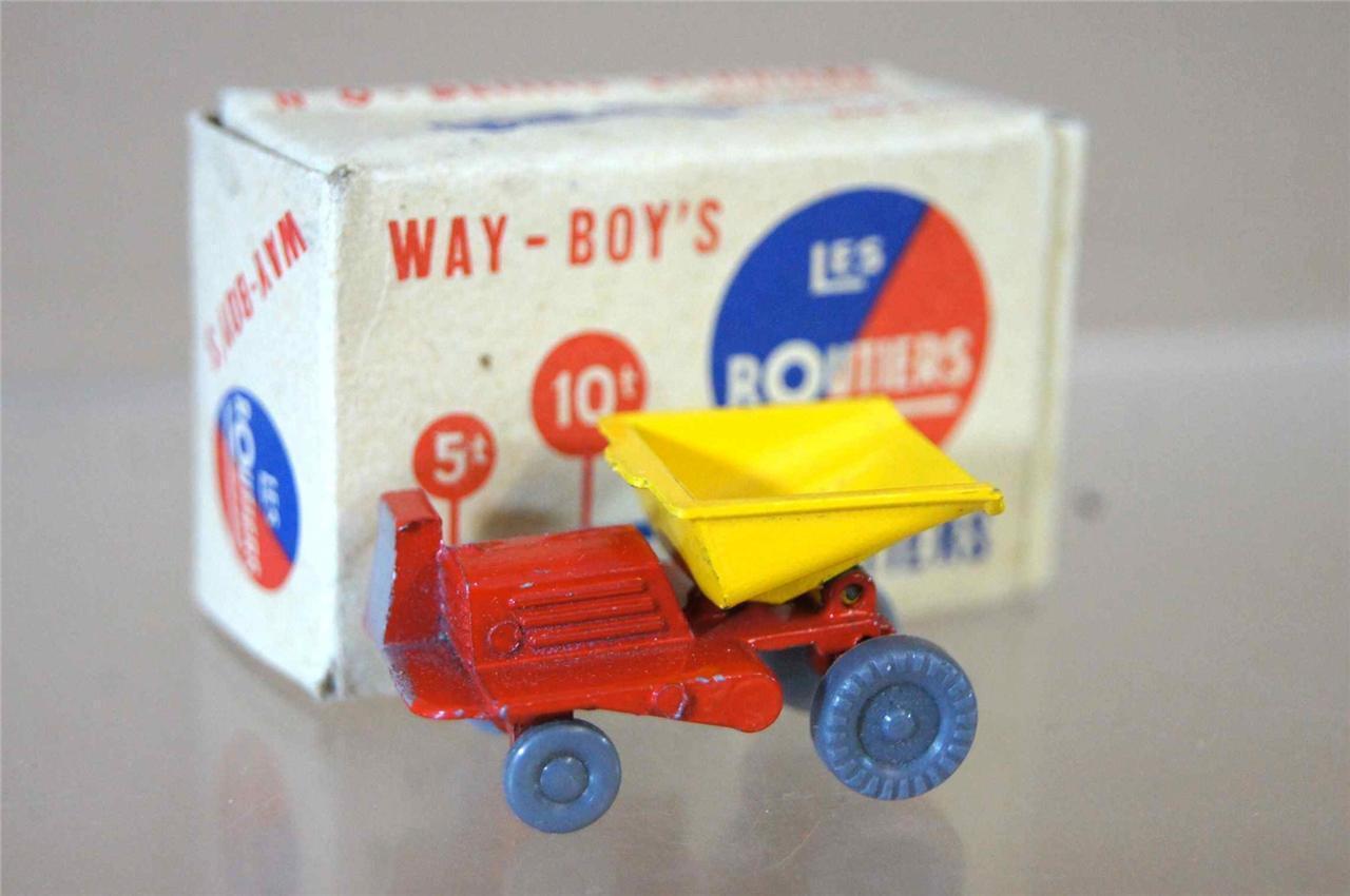 Way-Boys les Routiers No 6 Midget Toys Co Benne Carriere Bleu Type 8 MIB Ozc