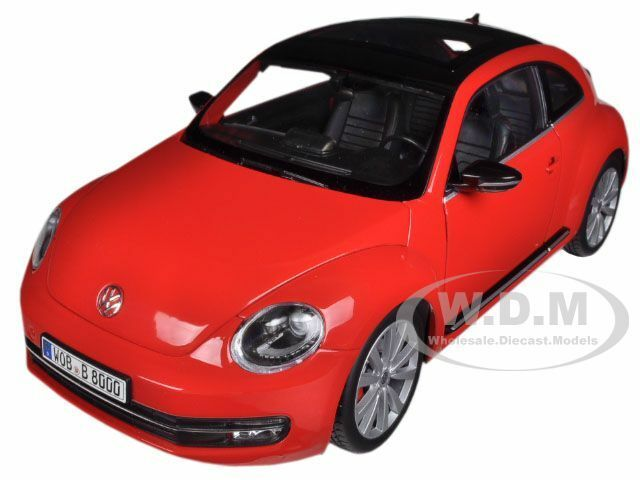 2012 VOLKSWAGEN NEW BEETLE RED 1 18 DIECAST MODEL CAR BY WELLY 18042
