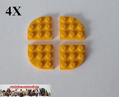 4X Lego® 30357 Platte Plate 3X3 Viertelkreis Runde Ecke Round Corner Hellorange