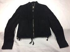 NEW $890 Authentic DAMIR DOMA SILENT Black Cotton Calf Leather 'Joipol' Jacket M