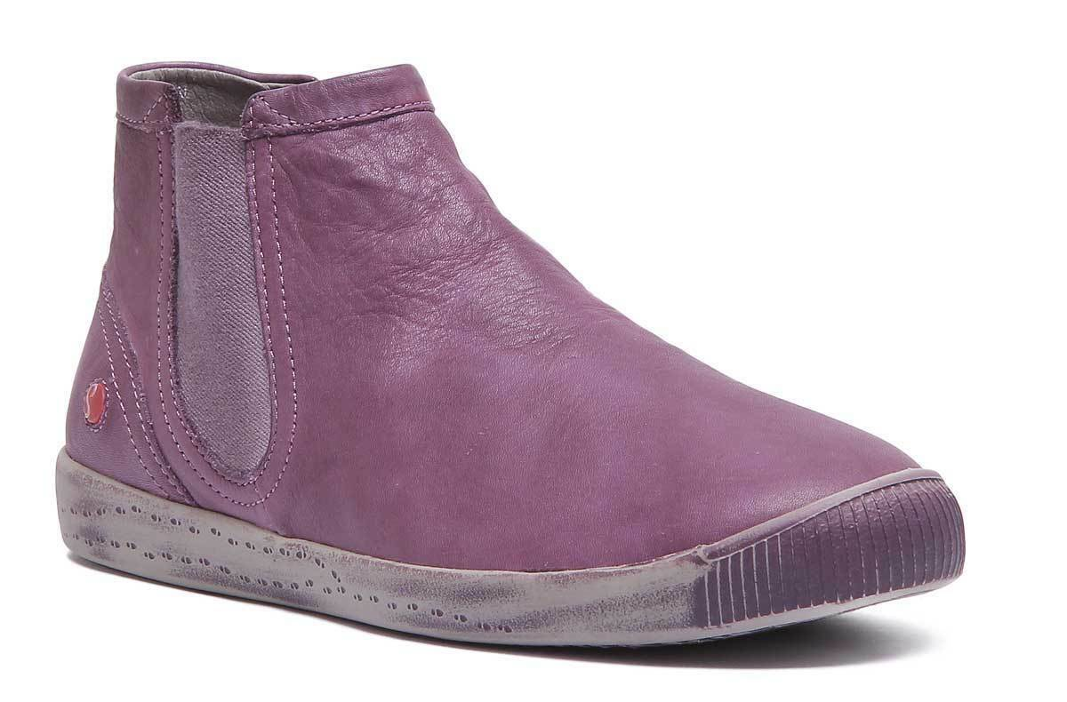 Softinos Inge donna Leather viola Chelsea Ankle stivali UK  Dimensione 3 - 8  prezzi bassissimi
