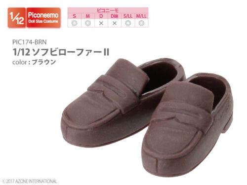 Azone Picconeemo Soft Vinyl Loafer II Brown 1//12 Fashion Doll