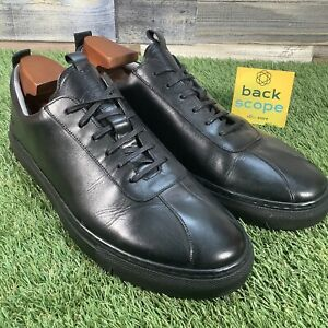 UK11G-Grenson-Sneaker-1-High-End-Calf-Leather-Trainers-Retro-Style-RRP-195