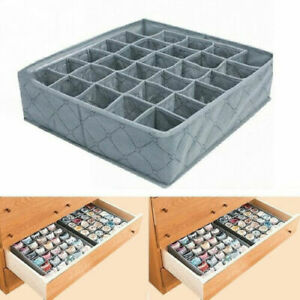 30-Cells-Bamboo-Charcoal-Underwear-Ties-Sock-Storage-Drawer-Organizer-Box-US