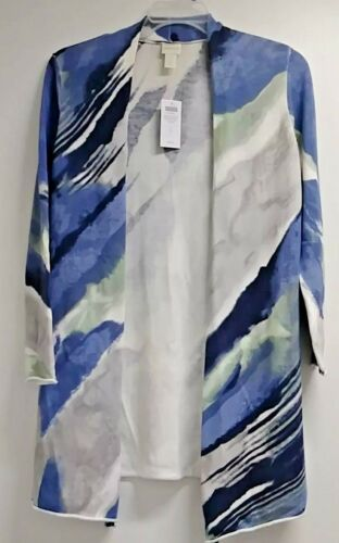 7cef76660ef0 Long 1 Blue Chico's Cape Nwt Sweater Abstract Cardigan Plus Size New Tunic  XxU5HqSwH