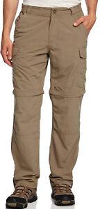 Craghoppers-Nosi-ProLite-Convertible-Mens-Walking-Trousers-Beige