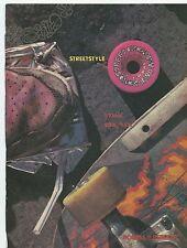 1988 Powell Peralta Bones Brigade Street Style Bearings Skateboard Ad RARE