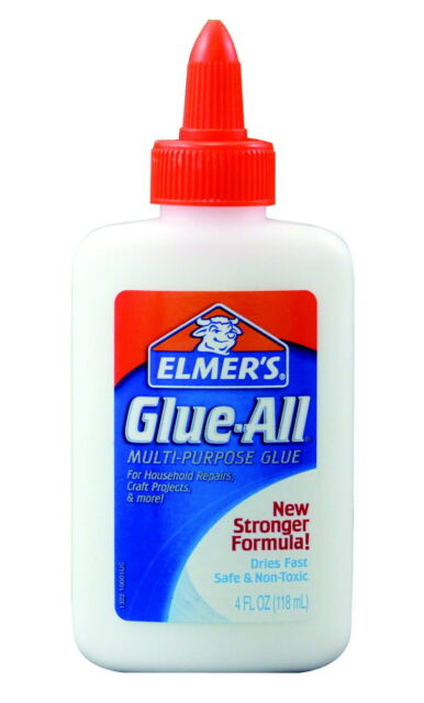 Elmer's Glue-All Glue, 4 Ounce Squeeze Bottle, White and Dries Clear