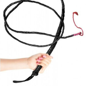 Adult Bull Whip Wip 2m 6ft Long Cowboy Indiana Fancy Dress Dr Jones Ring Master