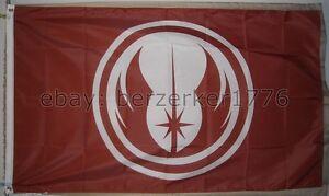 Star Wars Jedi Order Red 3' x 5' Flag Banner Luke Skywalker Yoda - USA Seller