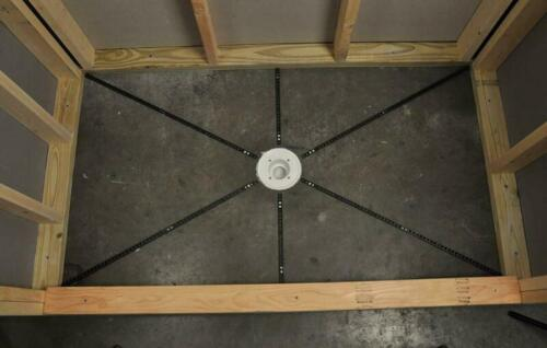 Pre-Pitch Installation Kit Custom Pitch Shower Pan Slope Liner Drain Subfloor